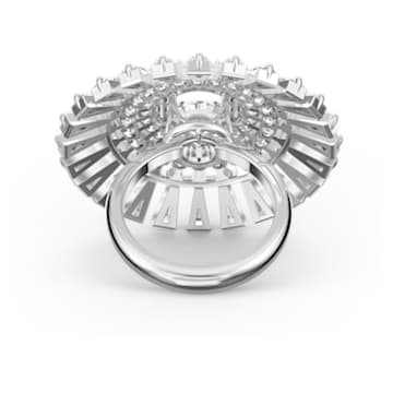 Swarovski Sparkling Dance Dial Up Ring, weiss, rhodiniert - Swarovski, 5564427
