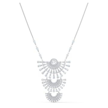 Swarovski Sparkling Dance Dial Up 项链, 大码, 白色, 镀铑 - Swarovski, 5564432