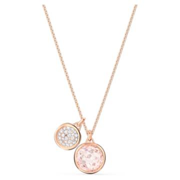 Pandantiv Tahlia Double, placat în nuanță aur roz - Swarovski, 5564908