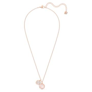 Tahlia Double Подвеска, Розовый Кристалл, Покрытие оттенка розового золота - Swarovski, 5564908