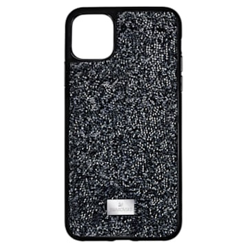 Glam Rock Smartphone case, iPhone® 12 Pro Max, Black - Swarovski, 5565177