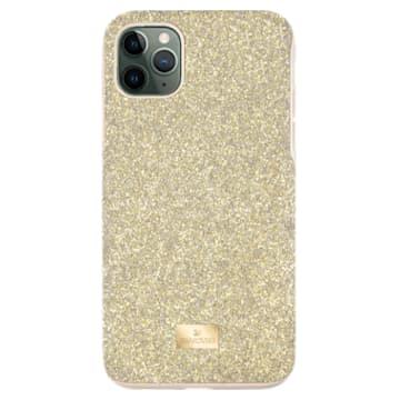 High smartphone case , iPhone® 12 Pro Max, Gold tone - Swarovski, 5565179