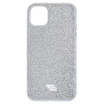 High smartphone hoesje, iPhone® 12/12 Pro, zilverkleurig - Swarovski, 5565202