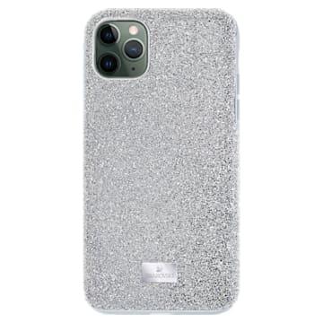 High Smartphone case, iPhone® 12/12 Pro, Silver tone - Swarovski, 5565202