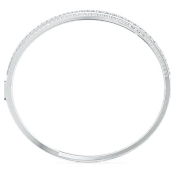 Twist Rows Браслет, Белый Кристалл, Родиевое покрытие - Swarovski, 5565210