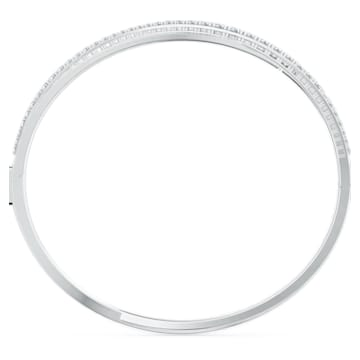Twist Rows karkötő, fehér, ródiumbevonattal - Swarovski, 5565210