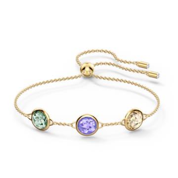 Tahlia-armband, Meerkleurig, Goudkleurige toplaag - Swarovski, 5565550