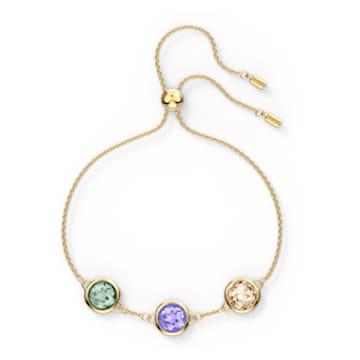 Tahlia bracelet, Round, Multicolored, Gold-tone plated - Swarovski, 5565550