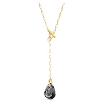 Collier en Y T Bar, gris, métal doré - Swarovski, 5565997