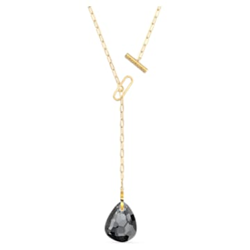 Collar en Y T Bar, gris, baño tono oro - Swarovski, 5565997