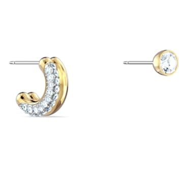 Manchette d'oreille Time, blanc, finition mix de métal - Swarovski, 5566005