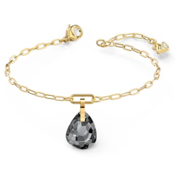T BAR-armband, Grijs, Goudkleurige toplaag - Swarovski, 5566149