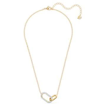Collar Time, mediano, blanco, combinación de acabados metálicos - Swarovski, 5566227