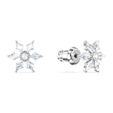 Boucles d'oreilles Magic Chain, blanc, métal rhodié - Swarovski, 5566677