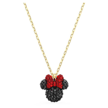 Minnie Pendant, Black, Gold-tone plated - Swarovski, 5566693