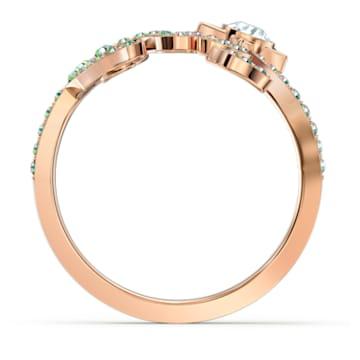Cattitude Ring, Green, Gold-tone plated - Swarovski, 5566725