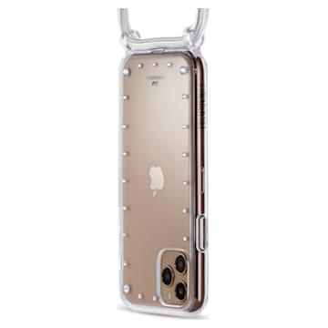 Funda para smartphone con collar y protector Swarovski, iPhone® 11 Pro Max, blanco - Swarovski, 5566951