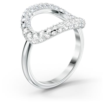 The Elements Air Ring, White, Rhodium plated - Swarovski, 5567357