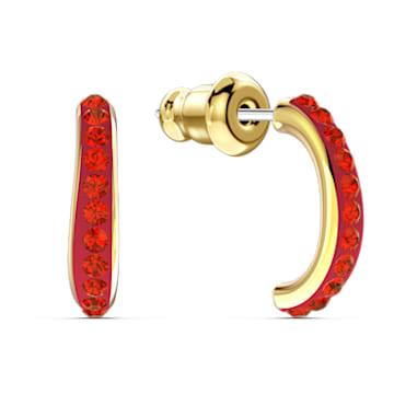 Pendientes de aro The Elements, rojo, baño tono oro - Swarovski, 5567358