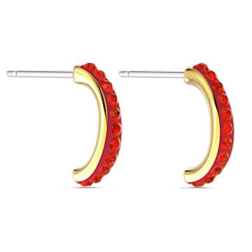 Créoles The Elements, rouge, métal doré - Swarovski, 5567358