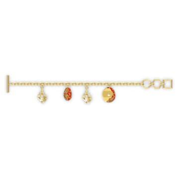 Braccialetto The Elements, rosso, placcato color oro - Swarovski, 5567361