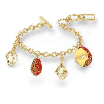 The Elements Armband, rot, vergoldet - Swarovski, 5567361