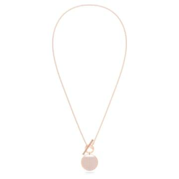 Collier Ginger T Bar, blanc, métal doré rose - Swarovski, 5567529