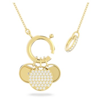 Collier Ginger Charm, blanc, métal doré - Swarovski, 5567530