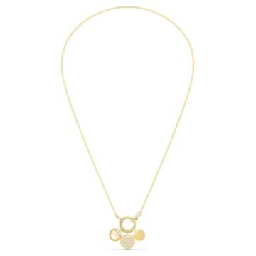 Collar Ginger Charm, blanco, baño tono oro - Swarovski, 5567530