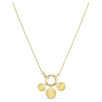 Colar Ginger Charm, branco, banhado a dourado - Swarovski, 5567530