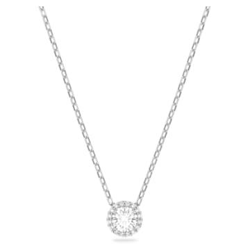 Angelic kör alakú medál, fehér, ródium bevonattal - Swarovski, 5567931