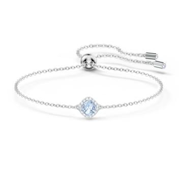 Angelic 手链, 蓝色, 镀铑 - Swarovski, 5567933