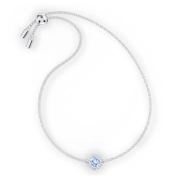 Bracelet Angelic Cushion, bleu, métal rhodié - Swarovski, 5567933