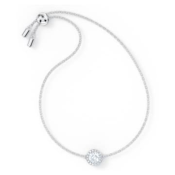 Angelic-ronde armband, Wit, Rodium-verguld - Swarovski, 5567934