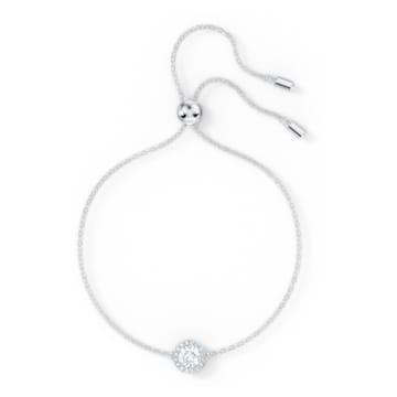 Angelic Round 手鏈, 白色, 鍍白金色 - Swarovski, 5567934