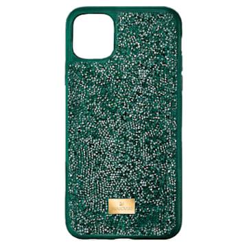 Glam Rock smartphone hoesje, iPhone® 12/12 Pro, groen - Swarovski, 5567939