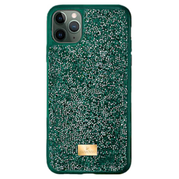 Glam Rock Smartphone case, iPhone® 12/12 Pro, Green - Swarovski, 5567939