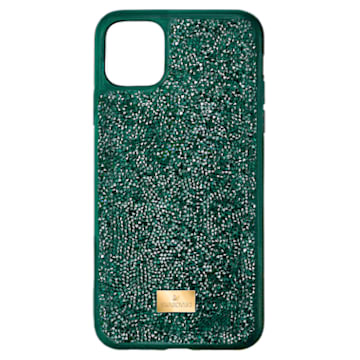 Glam Rock Smartphone Case, iPhone® 12 Pro Max, Green - Swarovski, 5567940