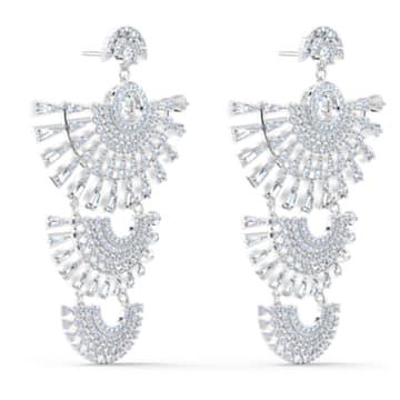 Swarovski Sparkling Dance Dial Up Серьги, Белый Кристалл, Родиевое покрытие - Swarovski, 5568008