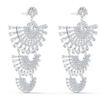 Swarovski Sparkling Dance Dial Up Pierced Earrings, White, Rhodium plated - Swarovski, 5568008