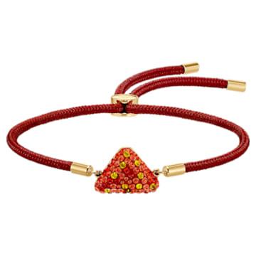 Pulsera Swarovski Power Collection Fire Element, rojo, baño tono oro - Swarovski, 5568269