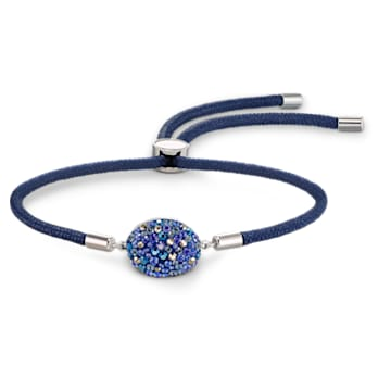 Pulseira Swarovski Power Collection, Elemento Água, azul, aço inoxidável - Swarovski, 5568270
