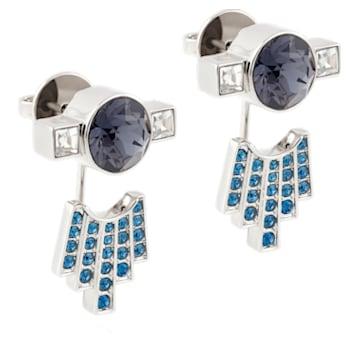 Karl Lagerfeld Ohrring Jackets, blau, palladiniert - Swarovski, 5568601