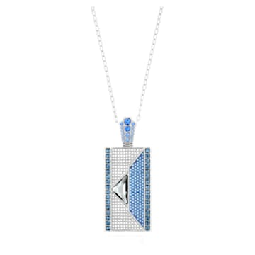 Karl Lagerfeld Geometric Necklace, Blue, Palladium plated - Swarovski, 5568605