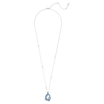 Tigris 链坠, 水滴, 蓝色, 镀钯 - Swarovski, 5568612