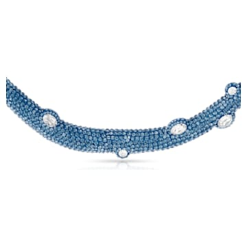 Collier torque Tigris, aiguemarine turquoise, métal plaqué palladium - Swarovski, 5568616