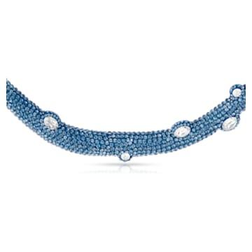 Tigris Halsreif, Wassertropfen, Blau, Palladiniert - Swarovski, 5568616
