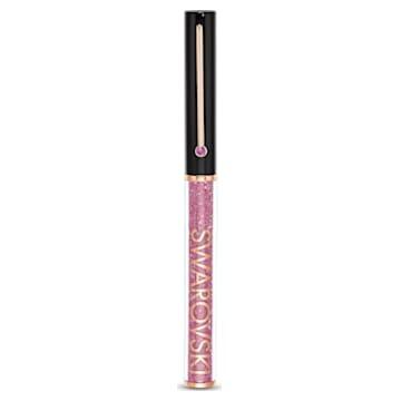 Crystalline Gloss golyóstoll, Fekete és rózsaszín, Rózsaarany-tónusú bevonattal - Swarovski, 5568755