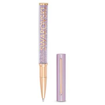 Stylo à Bille Crystalline Gloss, violet, métal doré rose - Swarovski, 5568764