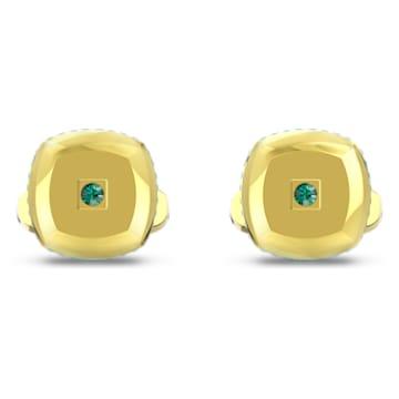 Theo Föld eleme mandzsettagombok, zöld, arany árnyalatú bevonattal - Swarovski, 5569062